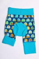 Éléphant arc-en-ciel, bleu short size 1