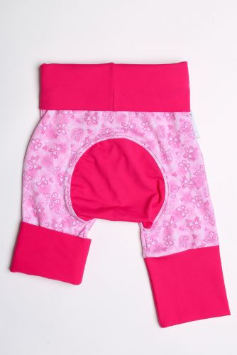 Papillon rose, fuchsia short size 1